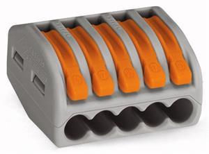 Клеммник 5х(0.08-4) WAGO 222-415