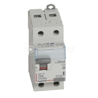 Выключатель дифференциального тока (УЗО) 2п 25А 30мА тип AC DX3 Leg 411504