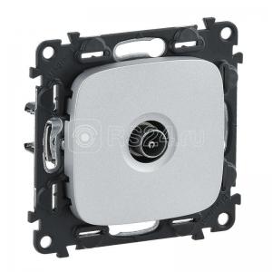Механизм розетки TV Valena Allure оконечная 10дБ 0-862МГц с лицевой панелью алюм. Leg 753960
