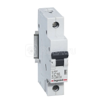 Выключатель автоматический модульный 1п C 16А 4.5кА RX3 Leg 419664