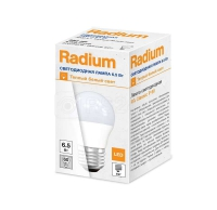 Лампа светодиодная RL-P60 6.5W/830 6.5Вт 2700К тепл. бел. E27 550лм 230В FS1 RADIUM 4008597191770