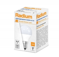 Лампа светодиодная RL-P60 6.5W/840 6.5Вт 4000К бел. E14 550лм 230В FS1 RADIUM 4008597191800