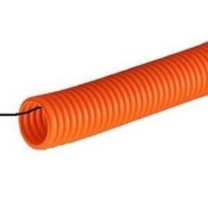 Труба гофрированная ПНД с протяжкой оранж. ДКС