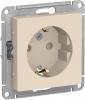 Механизм розетки 1-м СП ATLAS DESIGN с заземления 16А
