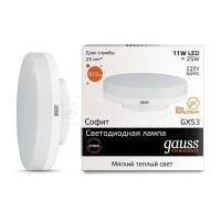 Лампа светодиодная Elementary GX53 11Вт 3000К 1/10/100 Gauss 83811