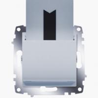 Выключатель Cosmo карточный с задержкой выключения алюм. ABB 619-011000-265