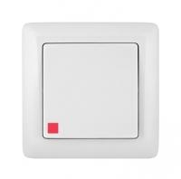 Выключатель 1-кл. СП Хит 6А с индик. бел. SchE ВС16-135-Б VS16-135-B (ВС16-135-Б)