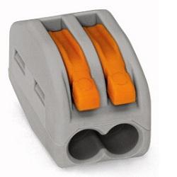 Клеммник 2х(0.08-2.5) WAGO 222-412