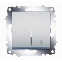 Механизм переключателя 1-кл. Cosmo схема 6 с подсветкой алюм. ABB 619-011000-210