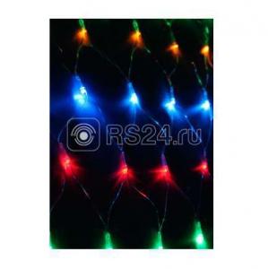 Гирлянда сеть 1.8мх1.7м 240LED с контроллером (разные режимы мигания) шнур 3м IP20 мультиколор Космос KOC_NET240LED_RGB