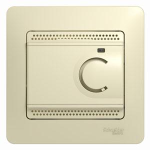 Термостат СП тепл. пола GLOSSA электрон. с датчиком 10А беж. SchE GSL000238