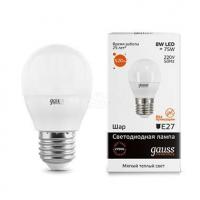 Лампа светодиодная LED Elementary Globe E27 8Вт 3000К Gauss 53218