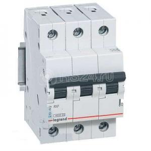 Выключатель автоматический модульный 3п C 6А 4.5кА RX3 Leg 419705