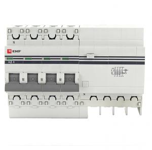 Выключатель автоматический дифференциального тока 4п 7.5мод. C 63А 30мА тип AC 4.5кА АД-4 PROxima EKF DA4-63-30-pro