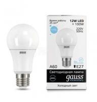 Лампа светодиодная LED Elementary A60 12Вт E27 6500К Gauss 23232