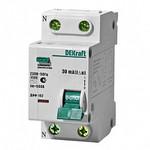 Выключатель автоматический дифференциального тока 1п+N 2мод. C 6А 30мА тип AC ДИФ-102 4.5кА DEKraft 16001DEK