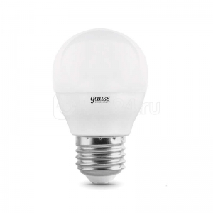 Лампа светодиодная LED Elementary 10Вт шар 4100К E27 920лм Gauss 53220