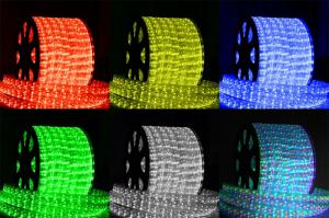 Шнур светодиодный Дюралайт постоянного свечения 2W 220В 1.6Вт/м d13мм (уп.100м) IP44 бел. Космос