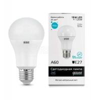 Лампа светодиодная Elementary A60 15Вт грушевидная 4100К белый E27 1450лм 180-240В GAUSS 23225