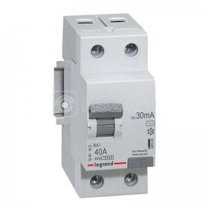 Выключатель дифференциального тока (УЗО) 2п 40А 30мА тип AC RX3 Leg 402025