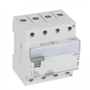 Выключатель диф. тока 4п 25А 30мА тип AC TX3 Leg 403008