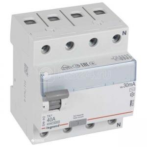 Выключатель диф. тока 4п 40А 30мА тип AC TX3 Leg 403009