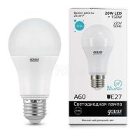 Лампа светодиодная Elementary A60 20Вт грушевидная 4100К белый E27 1600лм 180-240В GAUSS 23229