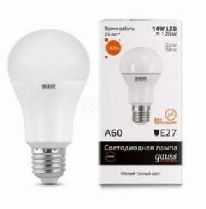 Лампа светодиодная LED Elementary A60 20Вт E27 3000К 1/10/40 Gauss 23219