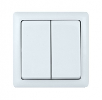 Выключатель 2-кл. ОП Хит 6А бел. SchE ВА56-232-Б VA56-232-B (ВА56-232-б)