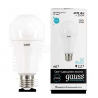 Лампа светодиодная LED Elementary A67 25Вт E27 4100К Gauss 73225
