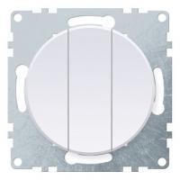 Механизм выключателя 3-кл. СП Florence бел. OneKeyElectro 1E31901300