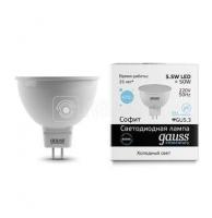 Лампа светодиодная LED Elementary MR16 GU5.3 5.5Вт 6500К Gauss 13536