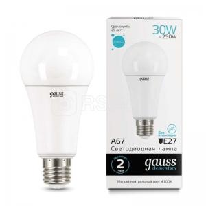 Лампа светодиодная Led Elementary A67 30Вт E27 4100К Gauss 73229