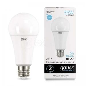 Лампа светодиодная LED Elementary A67 35Вт E27 6500К Gauss 70235
