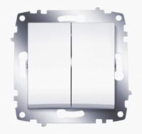 Механизм выключателя 2-кл. Cosmo бел. ABB 619-010200-202
