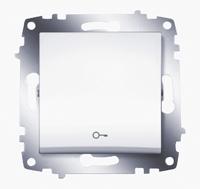 """Выключатель Cosmo кноп. с символом """"ключ"""" бел. ABB 619-010200-204"""