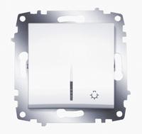 Выключатель Cosmo кноп. с подсветкой бел. ABB 619-010200-206