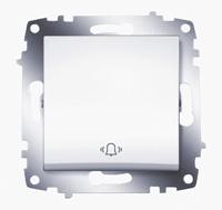 """Выключатель Cosmo кноп. с символом """"звонок"""" бел. ABB 619-010200-207"""