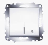 Механизм переключателя 1-кл. Cosmo схема 6 с подсветкой бел. ABB 619-010200-210