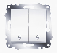 Механизм переключателя 2-кл. Cosmo схема 6 бел. ABB 619-010200-211