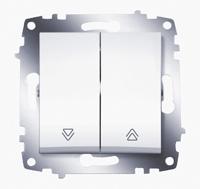 Выключатель 2-кл. Cosmo для управления жалюзи бел. ABB 619-010200-216