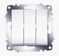 Механизм выключателя 3-кл. Cosmo бел. ABB 619-010200-254
