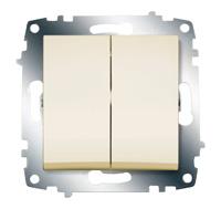 Механизм выключателя 2-кл. Cosmo крем. ABB 619-010300-202
