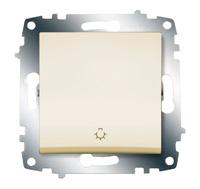 Выключатель кнопочный Cosmo крем. ABB 619-010300-205
