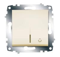 Выключатель кнопочный Cosmo с подсветкой крем. ABB 619-010300-206