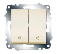 Механизм переключателя 2-кл. Cosmo схема 6 крем. ABB 619-010300-211