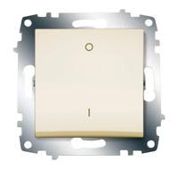 Выключатель Cosmo 2п крем. ABB 619-010300-269