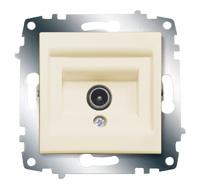 Розетка TV Cosmo проходная с экранированием крем. ABB 619-010300-272