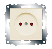 Механизм розетки 1-м Cosmo защ. шторки без заземл. крем. ABB 619-010300-286