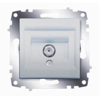 Розетка SAT Cosmo RG6 F-разъем алюм. ABB 619-011000-180